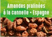 Amandes pralinées à la cannelle de la vallée de Pinoso en Espagne