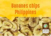 Bananes chips de l'île de Mindanao aux Philippines