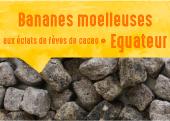 Bananes moelleuses aux éclats de Fèves de Cacao de Cerecita en Equateur