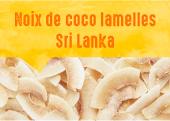 Noix de coco lamelles des jardins de Giriulla au Sri Lanka
