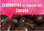 Cranberries au chocolat noir
