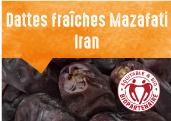 Dattes Fraîches Mazafati des vallées du Jebal Barez en Iran
