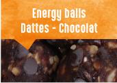 Energy balls Dattes - Chocolat