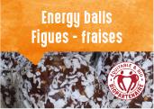 Energy balls figue-fraise