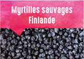 Myrtilles sauvages des forêts de Finlande