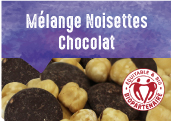 Mélange noisettes chocolat
