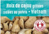 Noix de cajou grillées salées au poivre des provinces Dong Nai et Binh Phuoc au Vietnam