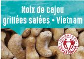 Noix de cajou grillées salées du Sud Vietnam