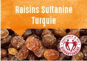 Raisins Sultanine de la plaine de Manisa en Turquie