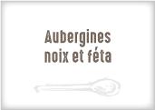 Aubergines aux noix et feta