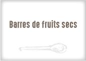 Barre de fruits secs