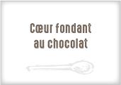 Coeur fondant au chocolat et noisettes